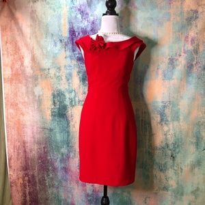❣️❣️ Calvin Klein Stylish Classic Ruby-red  Dress
